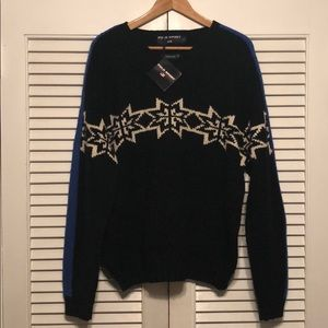 🔥NWT🔥Polo Sport RL Hand Knit Snowflake Sweater.